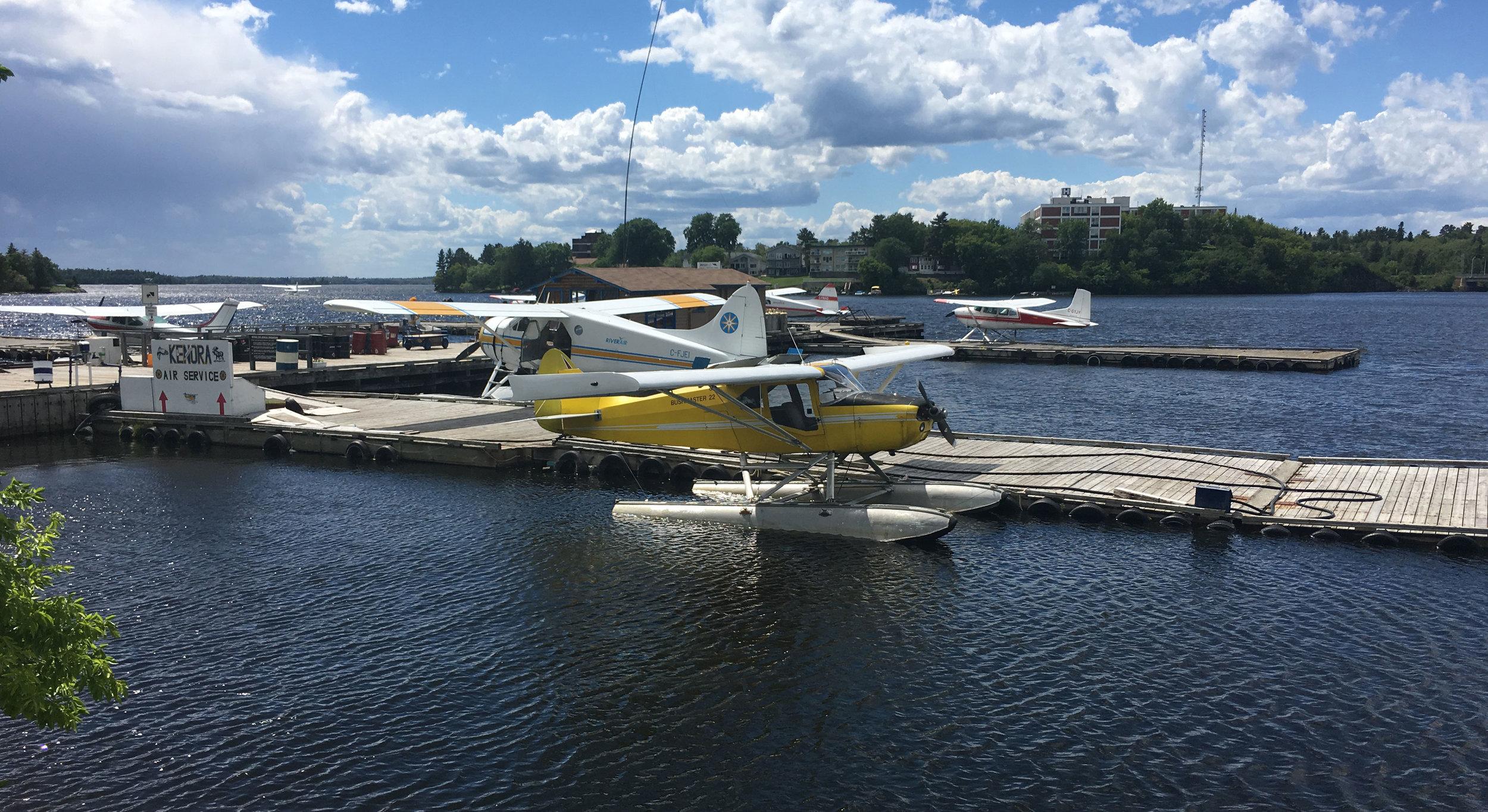 Float planes in Kenora