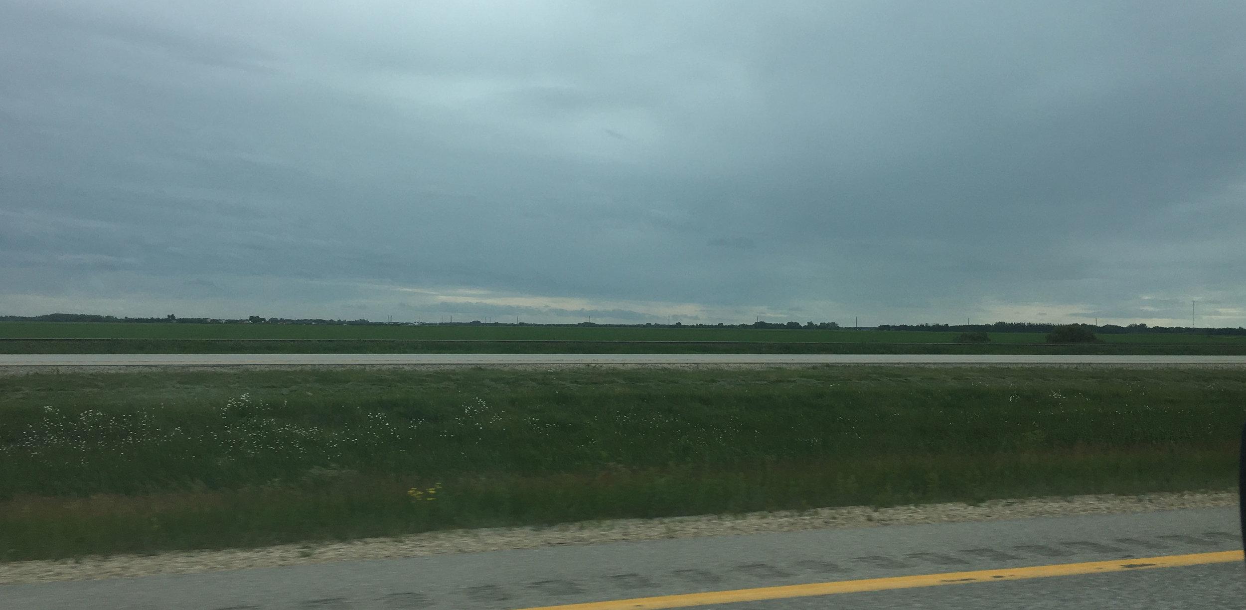 Really, really flat, Manitoba