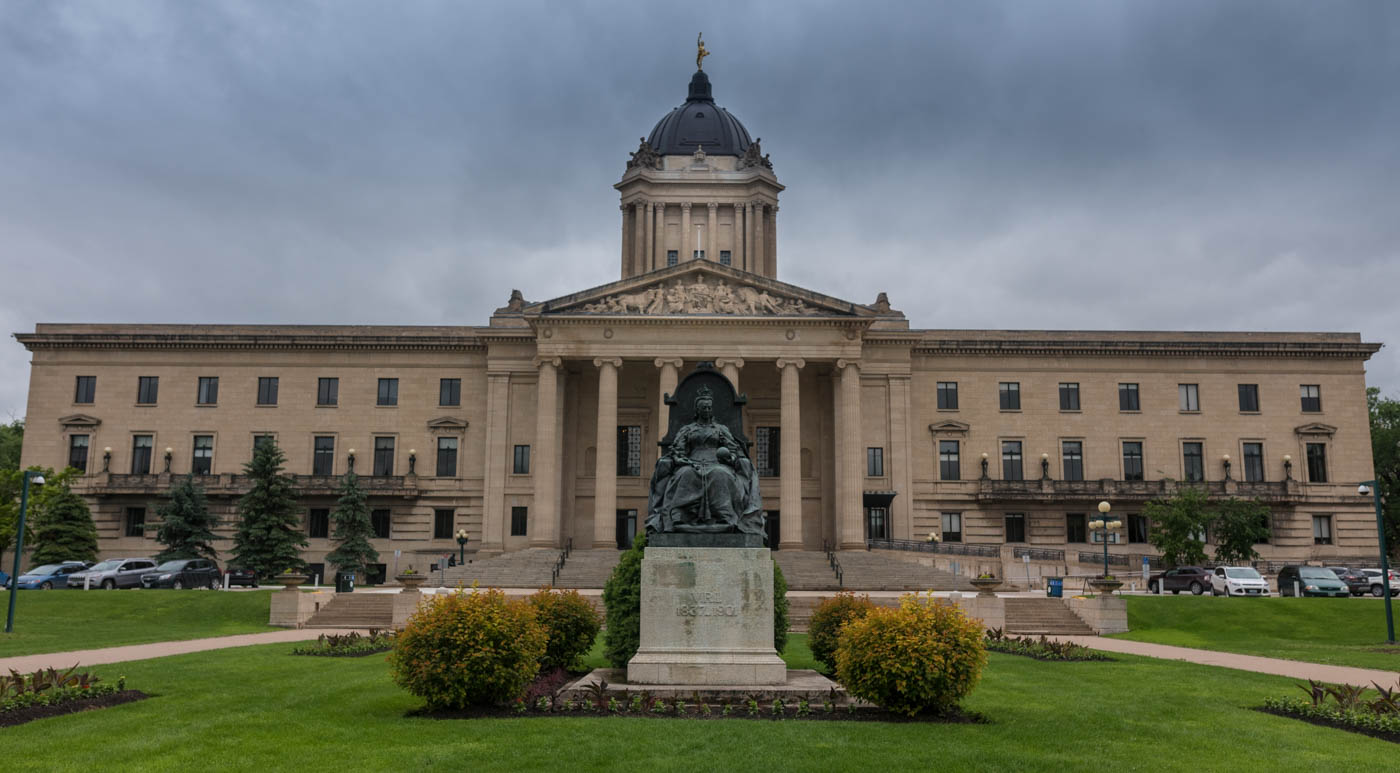 'The Legde' Manitoba capitol building, and yep that's Queen Victoria sitting there