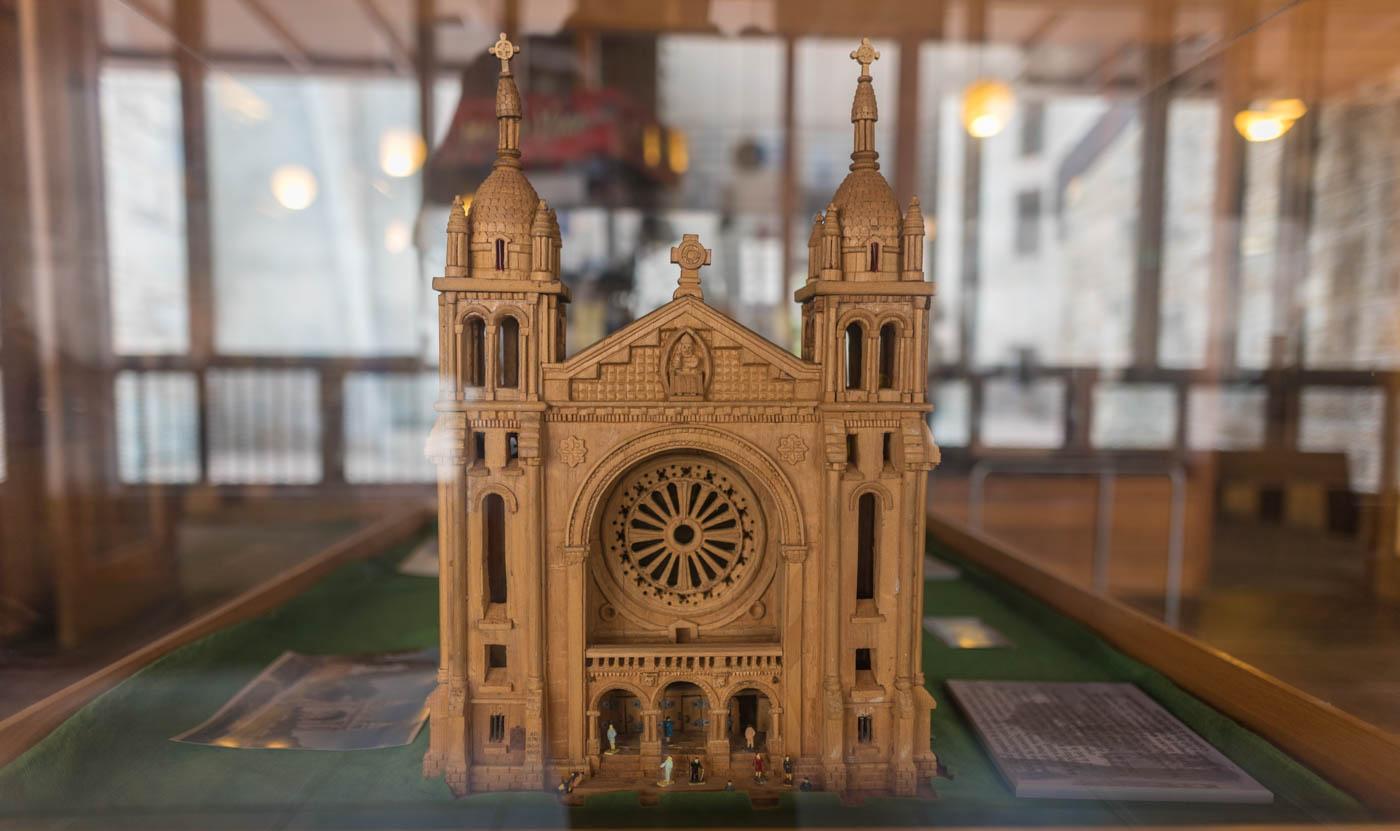 A model of it's original appearance