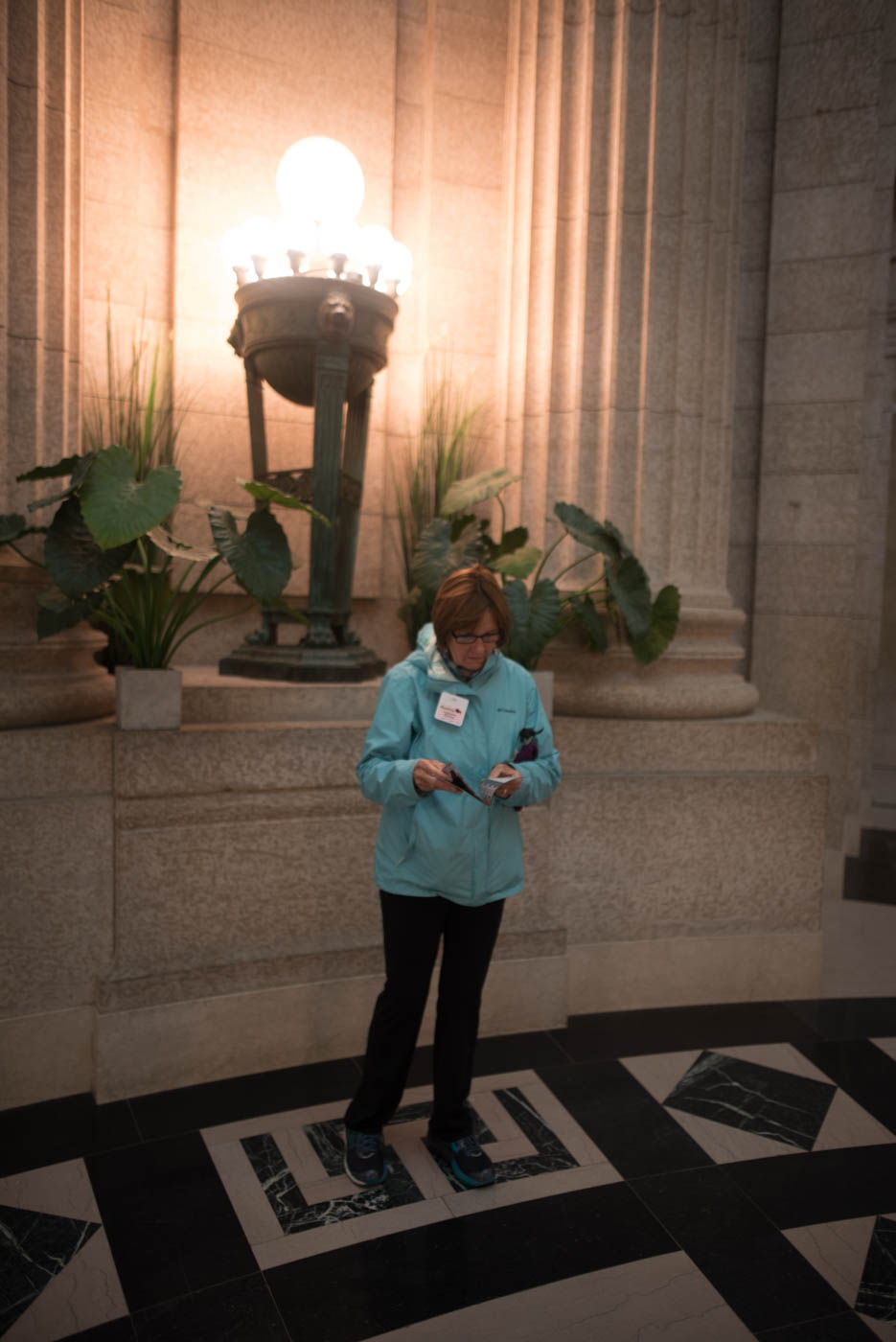 In the capitol building