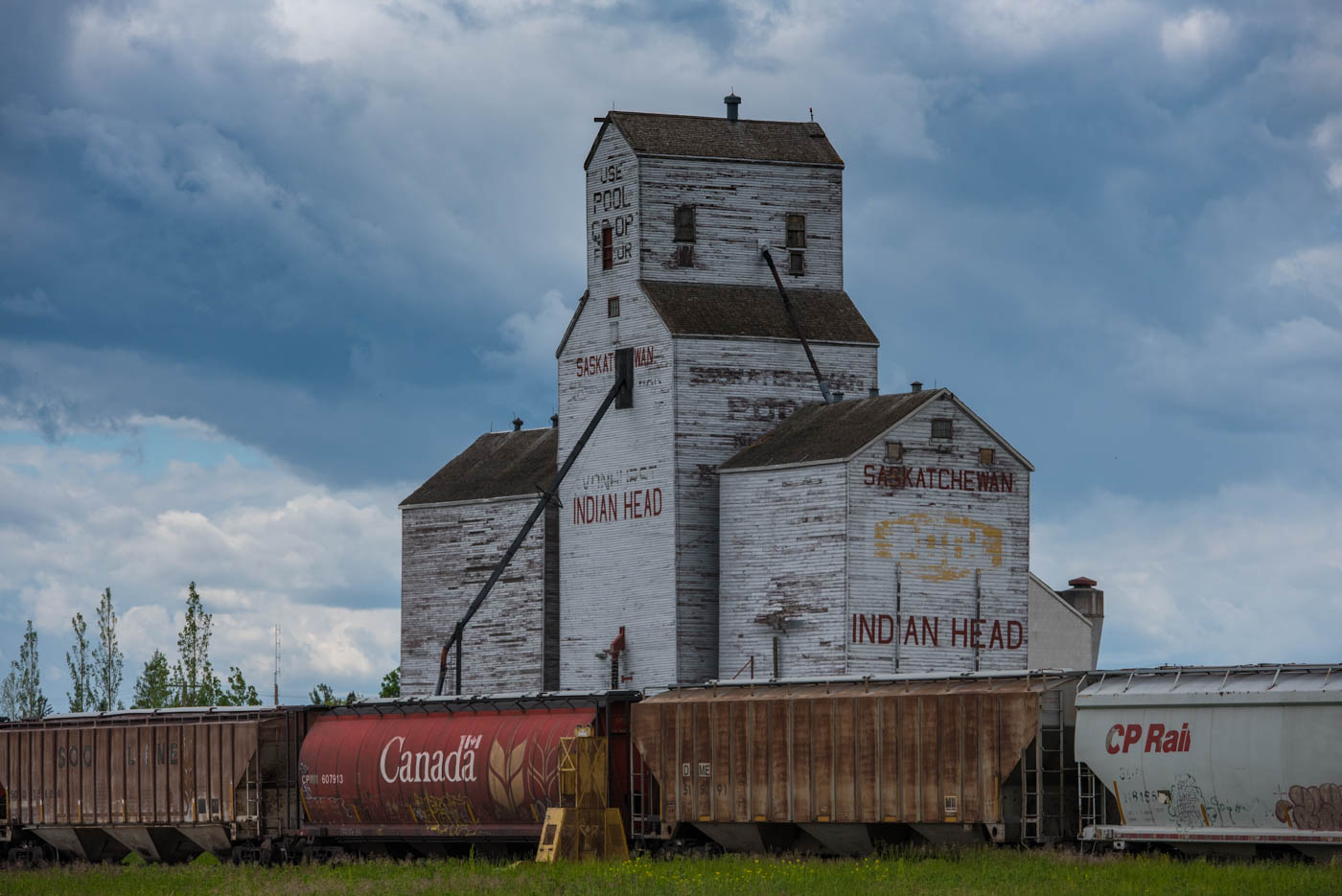 Typical grain elevator along the road
