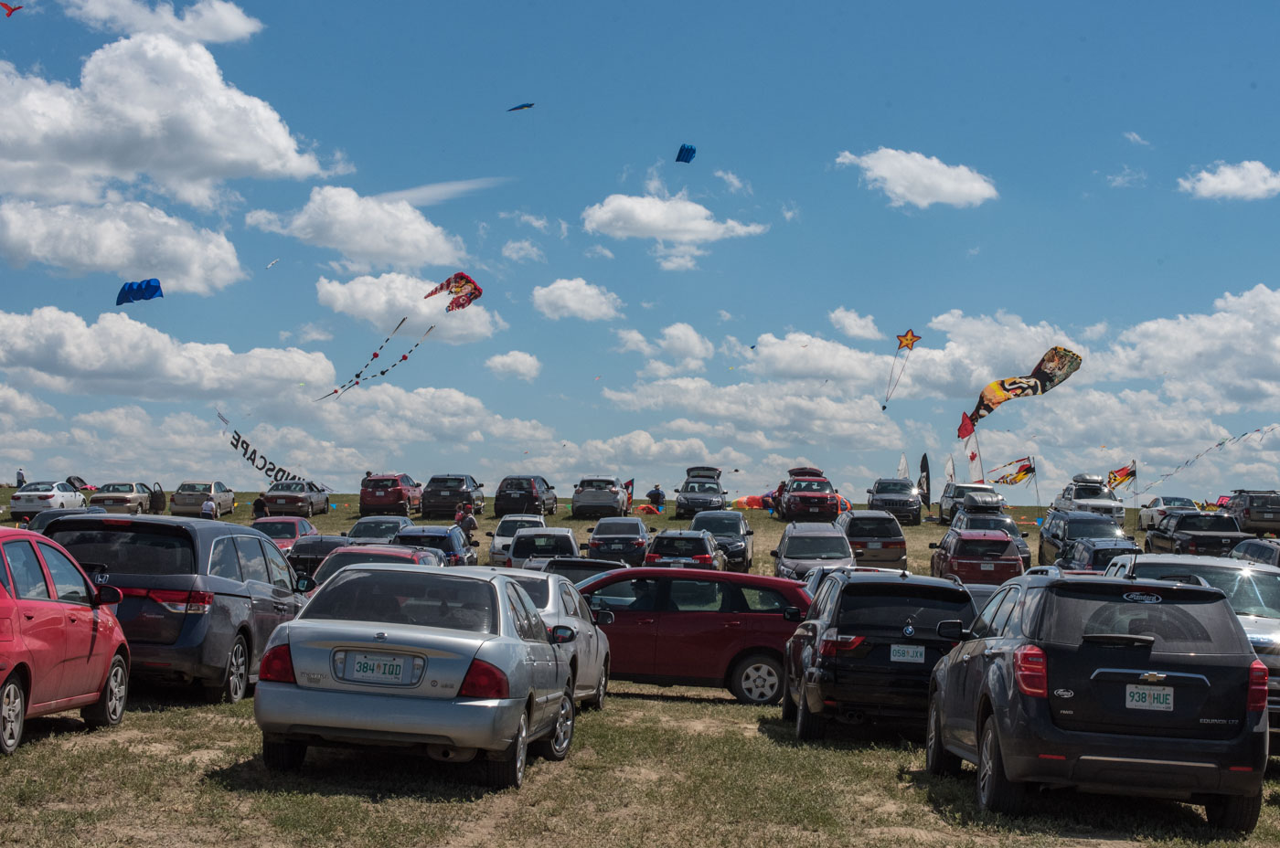 Arriving at the kite festival
