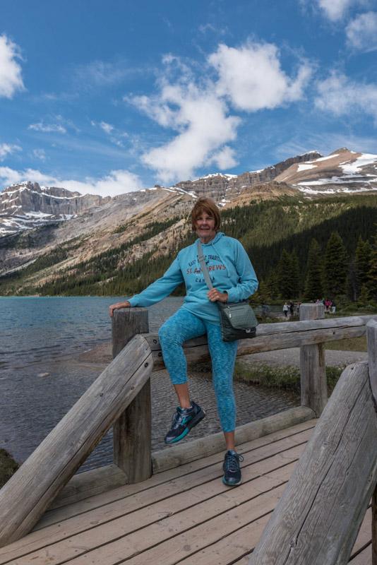 Carol at bow lake