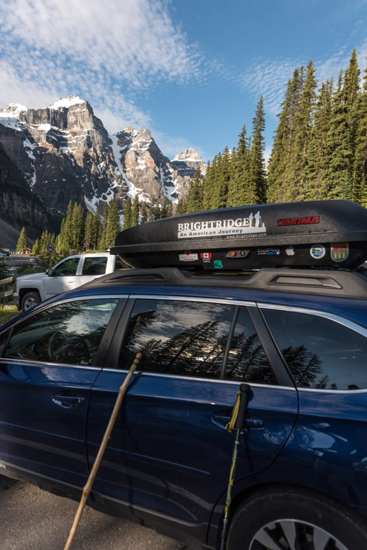 got parked at Moraine Lake - day 18