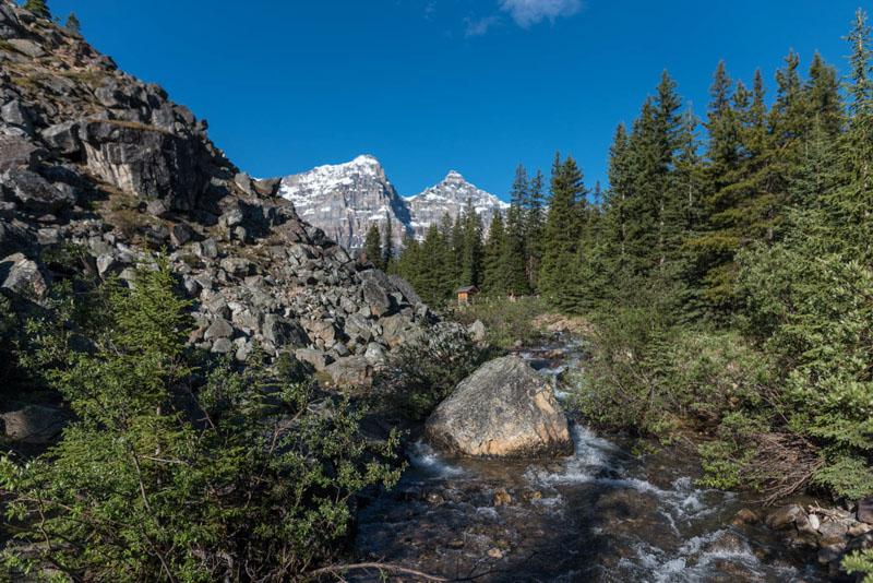 along the rockpile trail