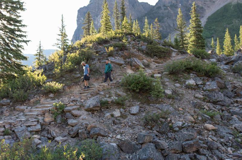 easy trail moraine lake