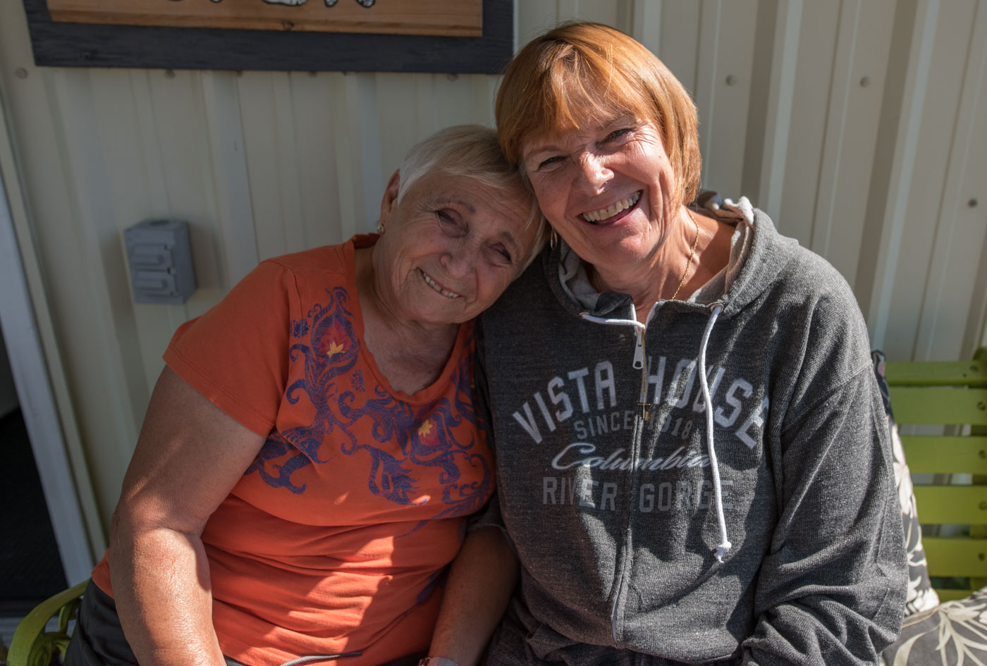 Old friends, Jeannie and carol