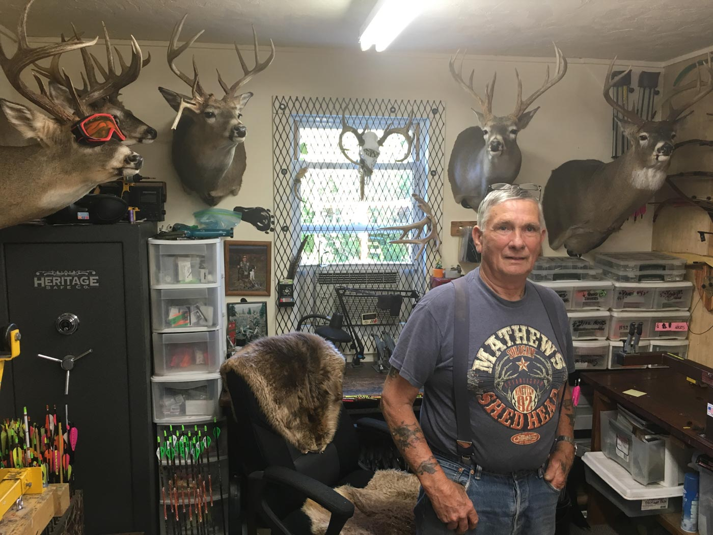 Pete in the shop