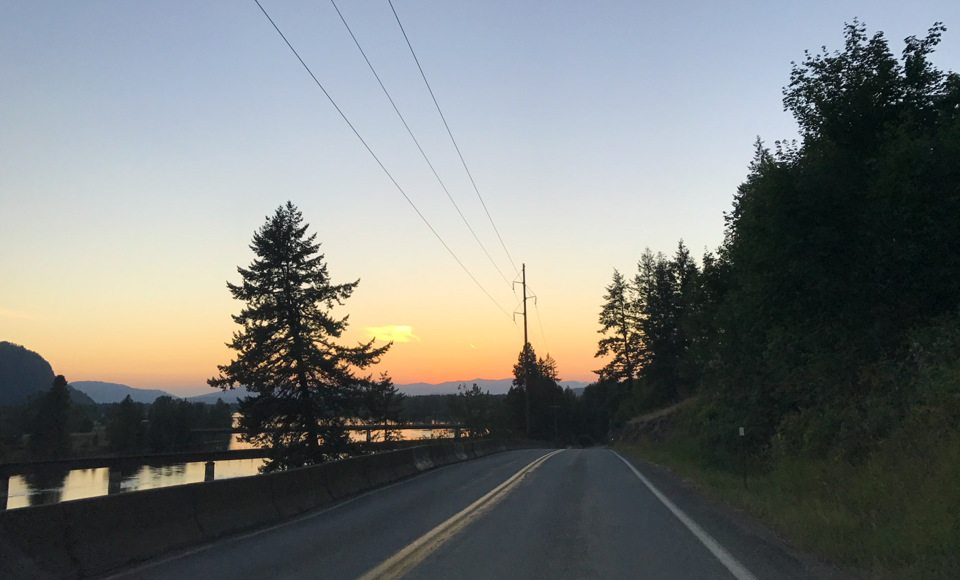 sunset on the Clark Fork river
