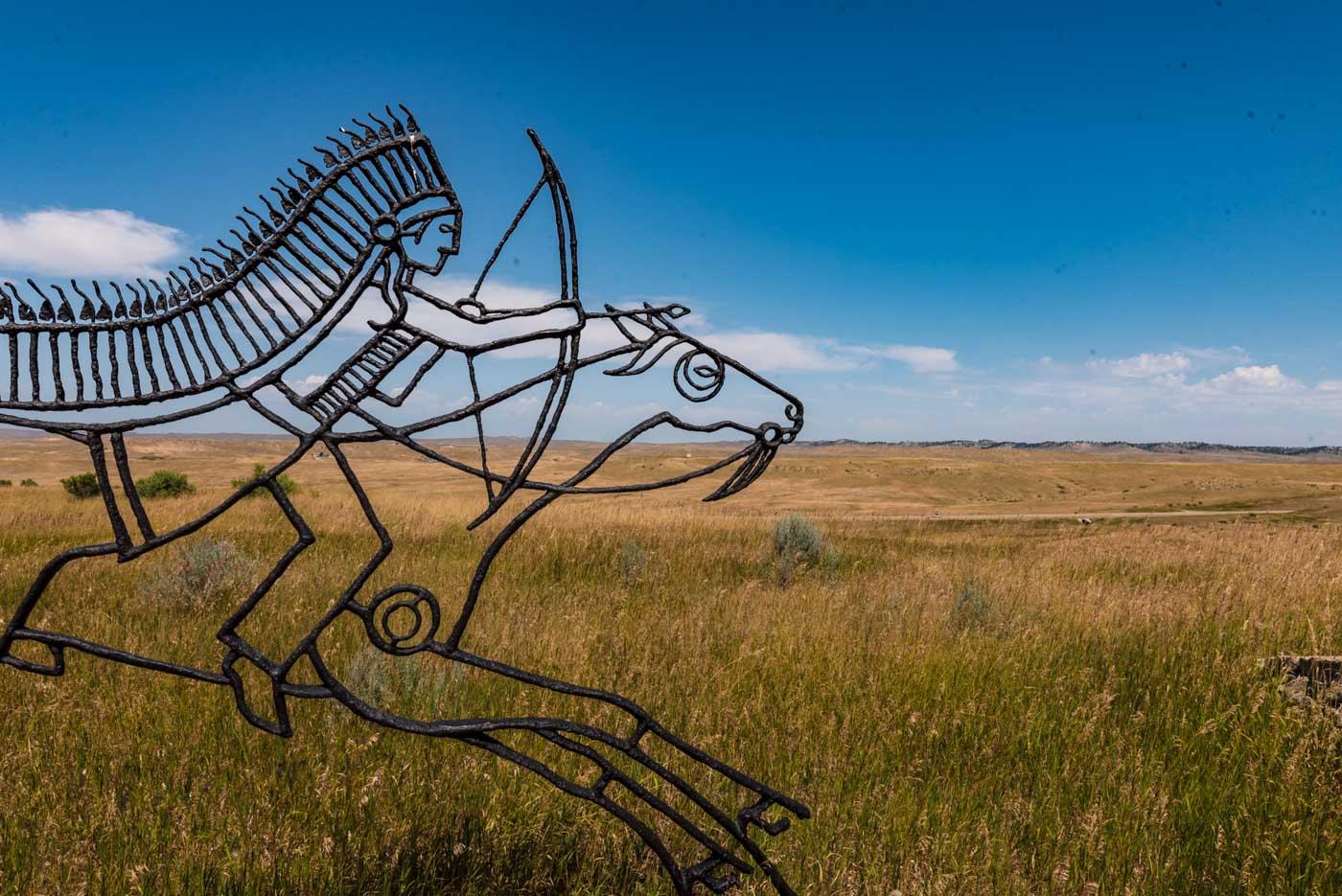 Warrior Memorial at the Little Bighorn National Battlefield