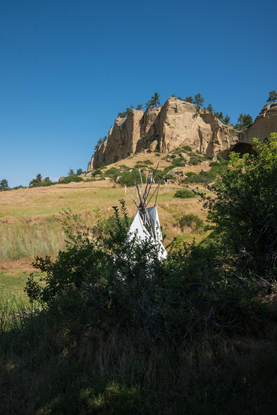 Tipi at the caves