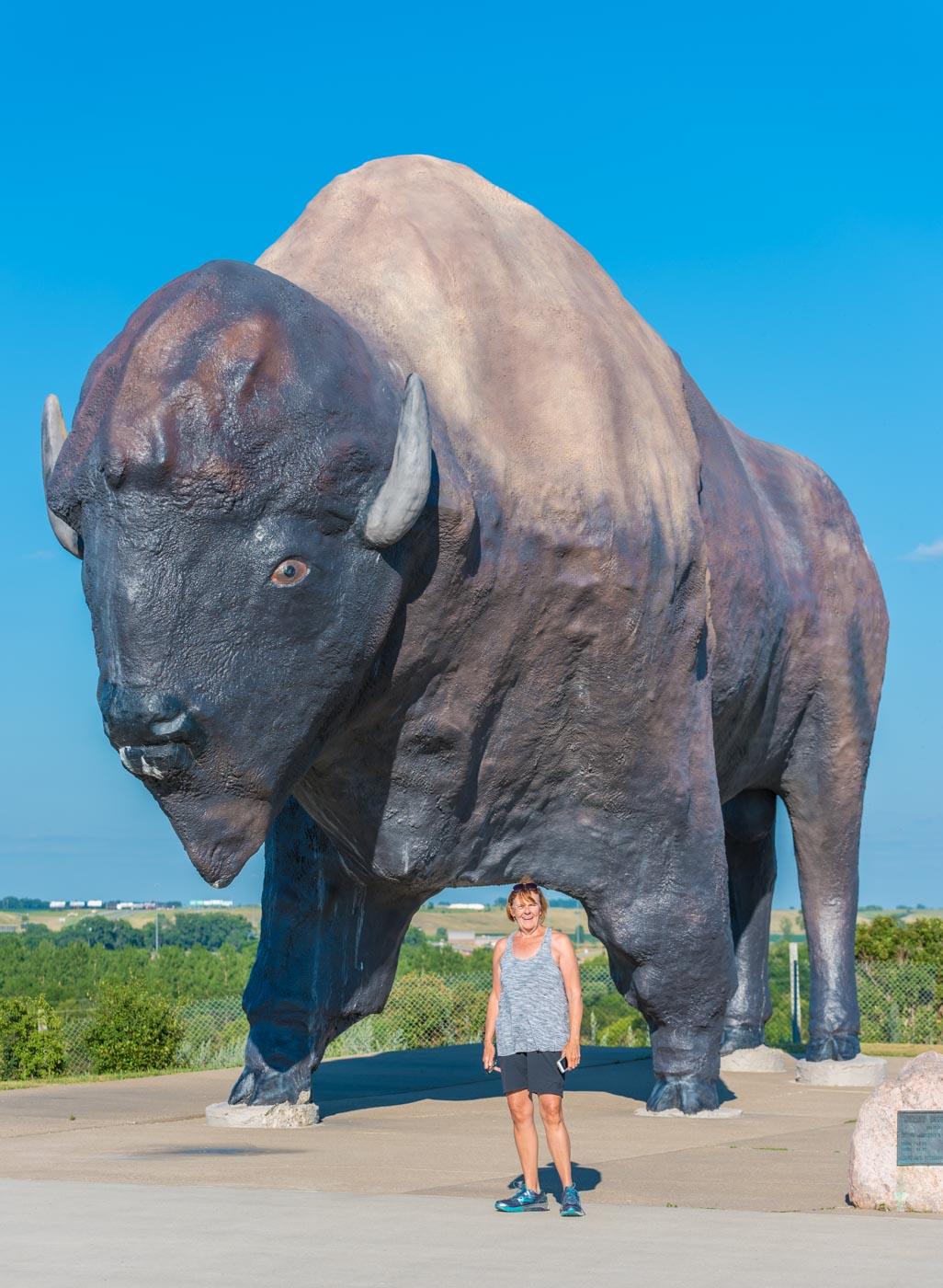 Carol and the World's Largest Buffalo!