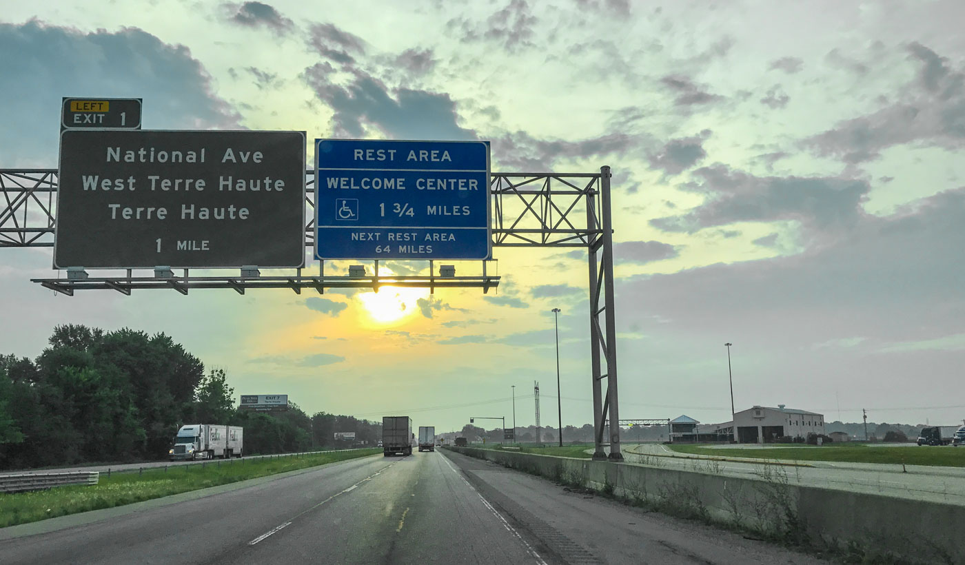 Entering Indiana