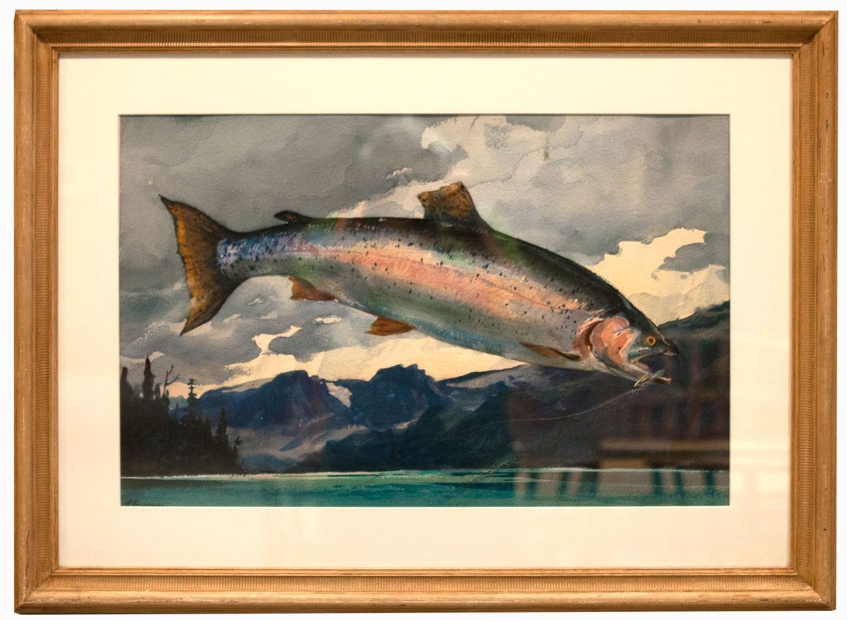 Ogden Pleissner watercolor