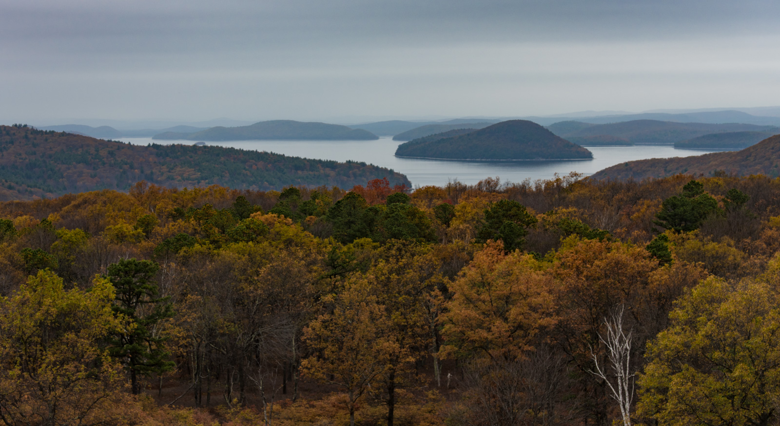 View of the reservoir from the tower on quabbin hill