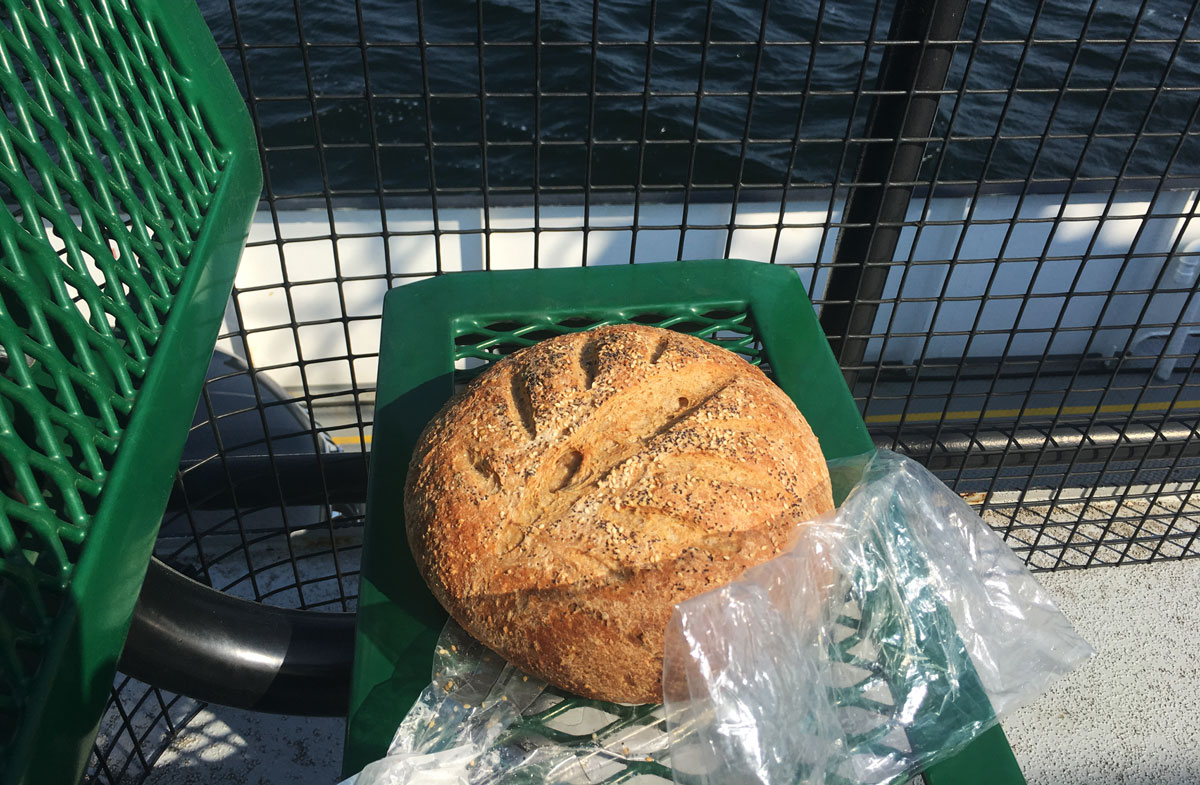 Bread cooling on the top deck