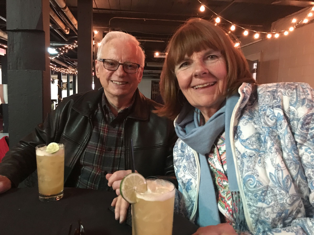 Carol and the birthday boy at Sons Of Liberty