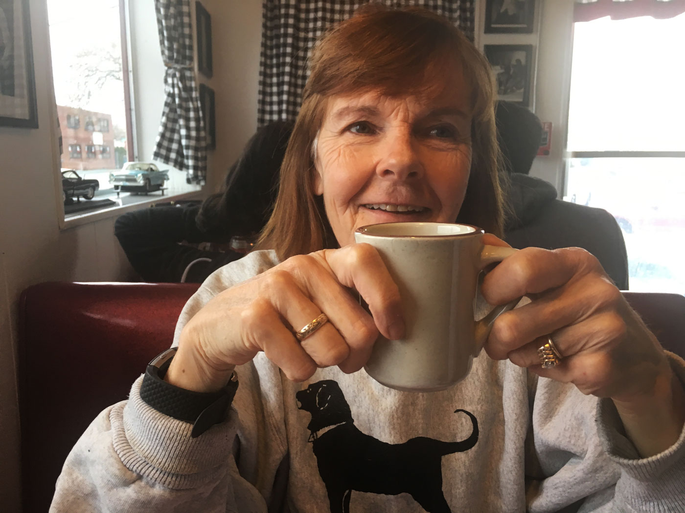 Morning coffee at Pazi's Place on Taunton Avenue
