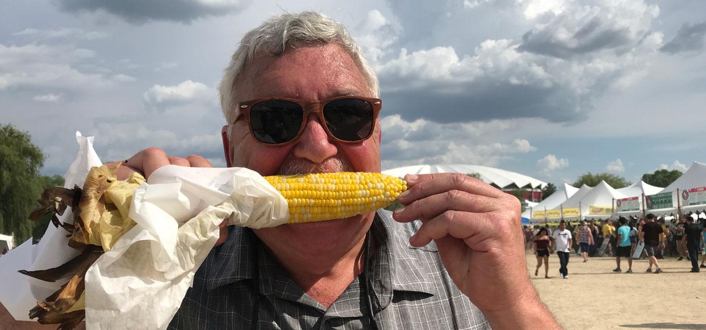 Eddie loves corn