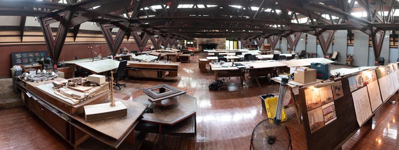 The classroom/studio, all natural light