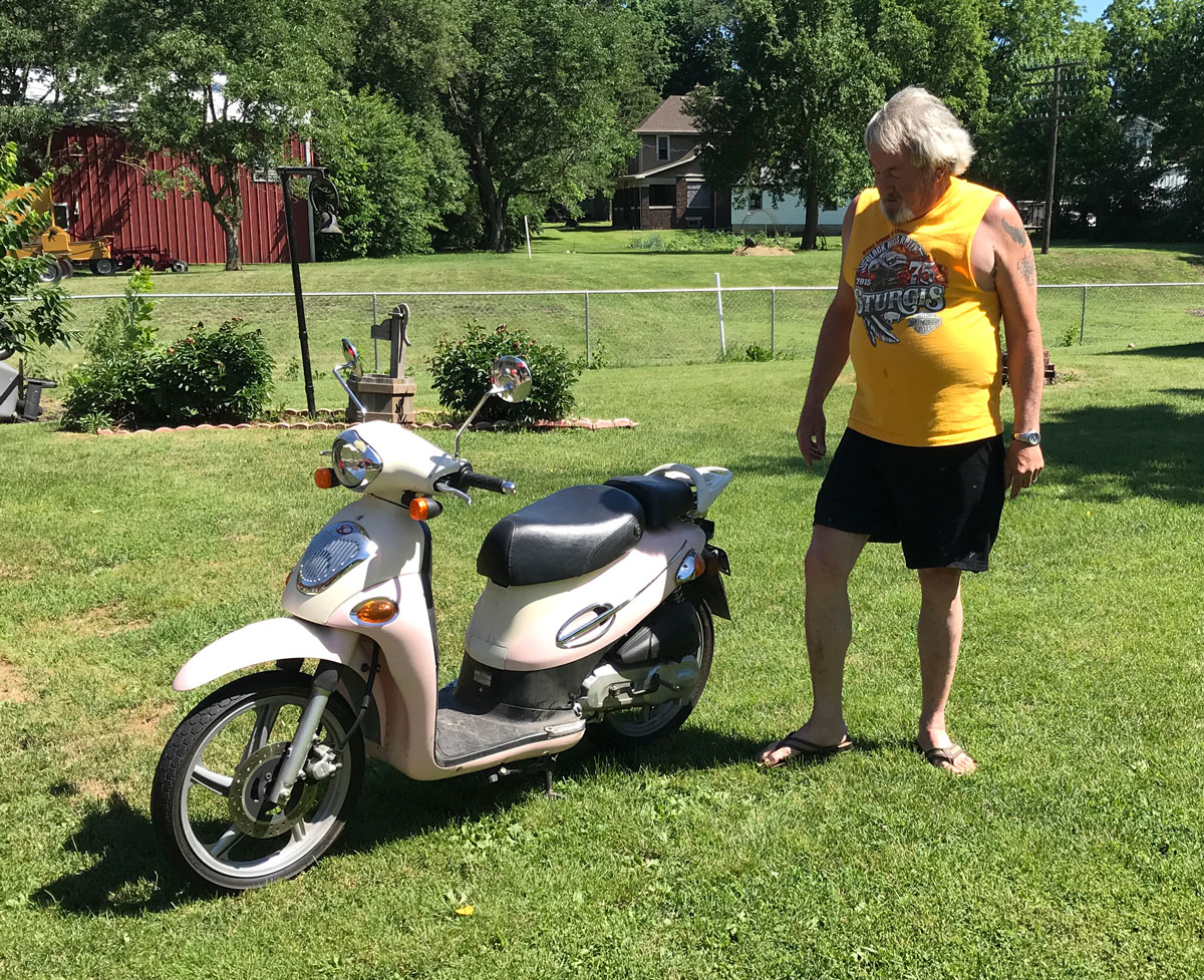 Dave loves his scooters, this is Pinky