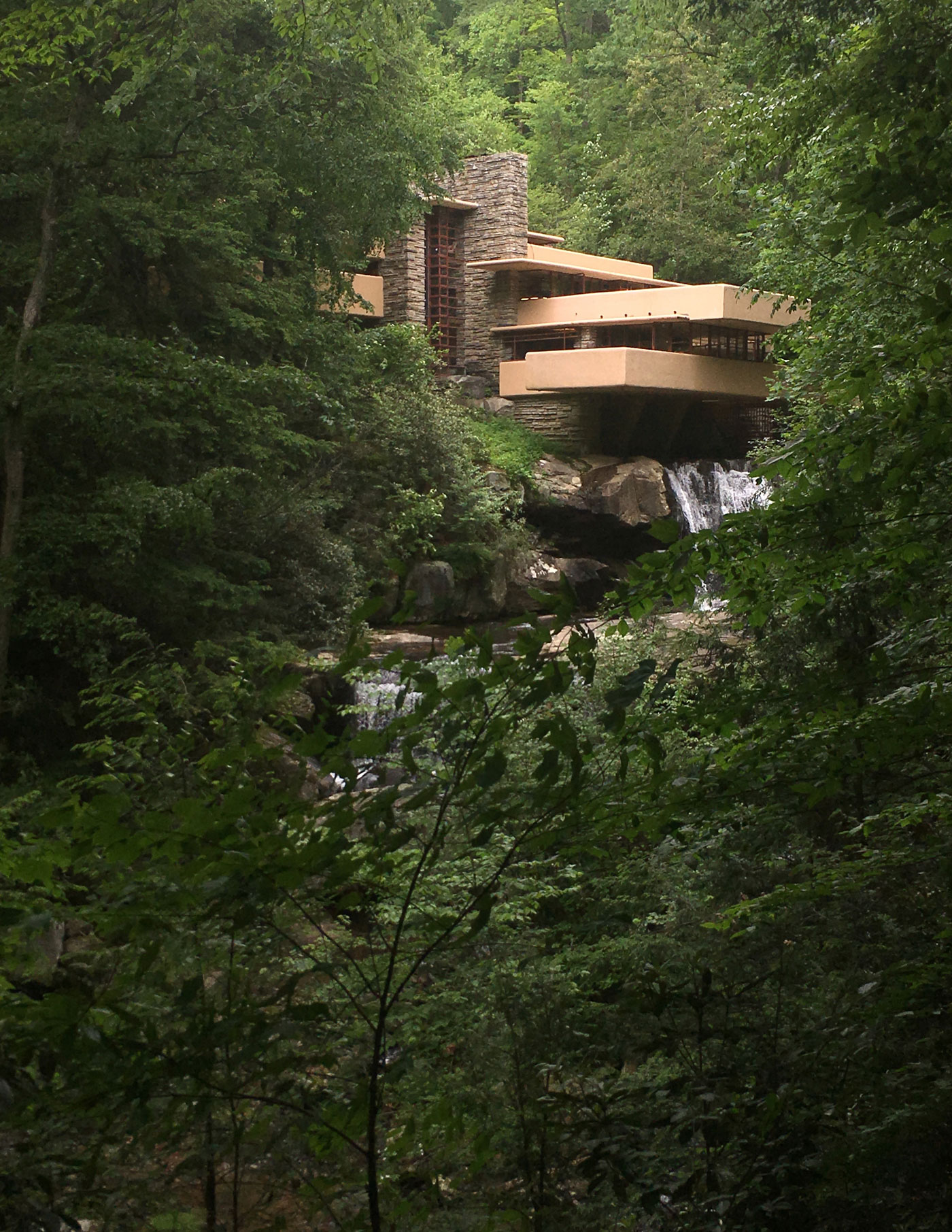 Fallingwater, the iconic view