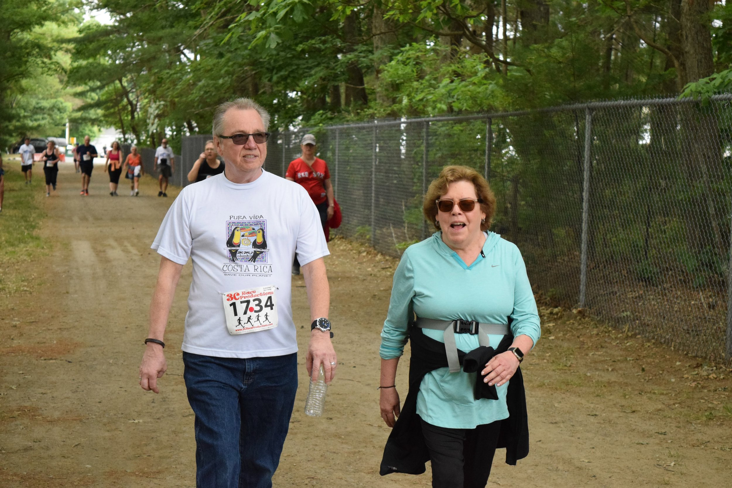 Kevin & Sandy at finish line