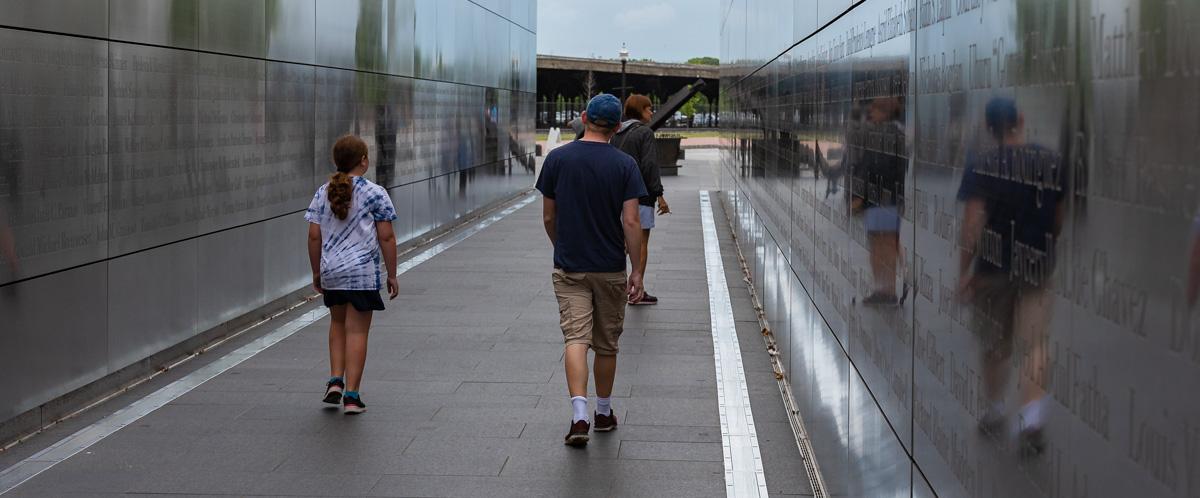 Walking through the 9/11 memorial