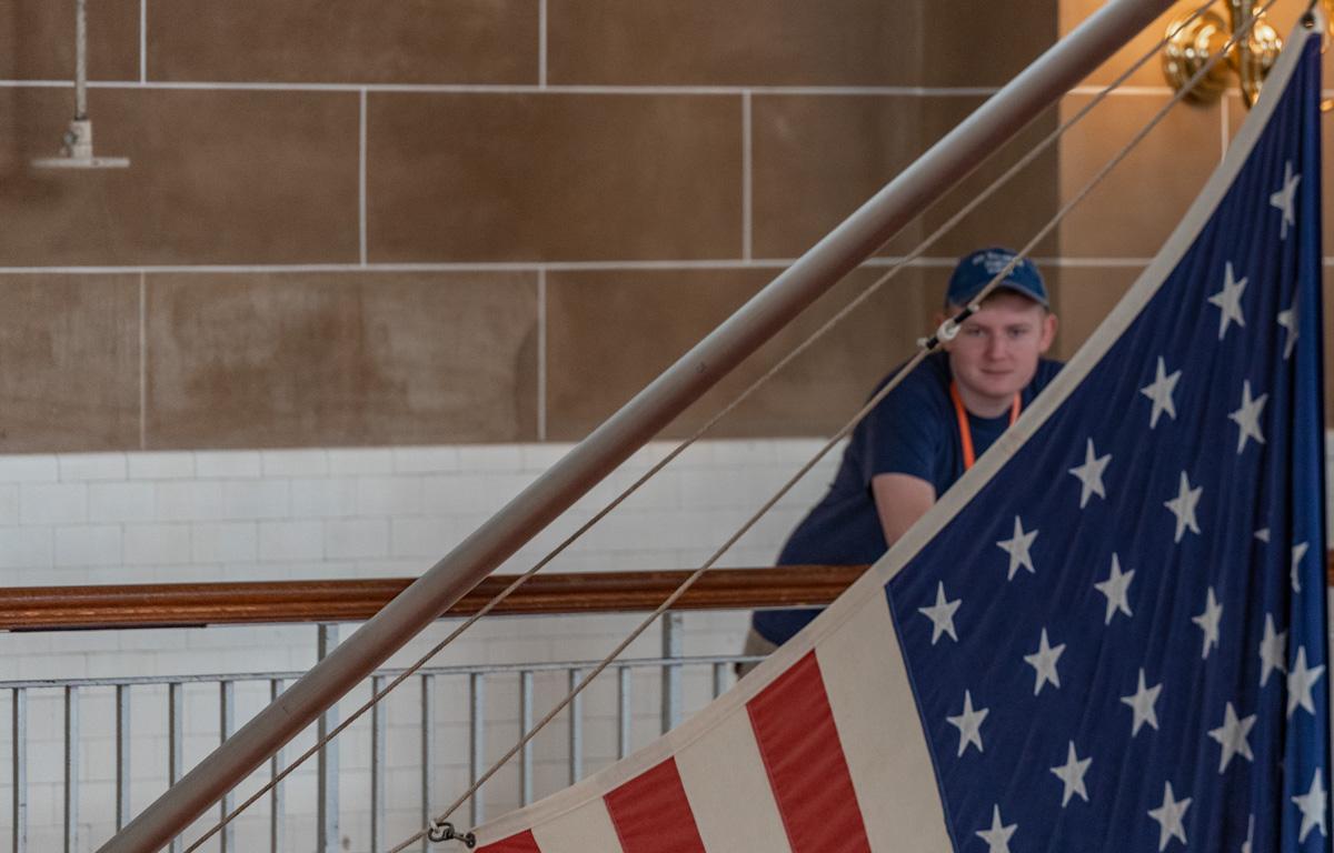 Ben at Ellis Island