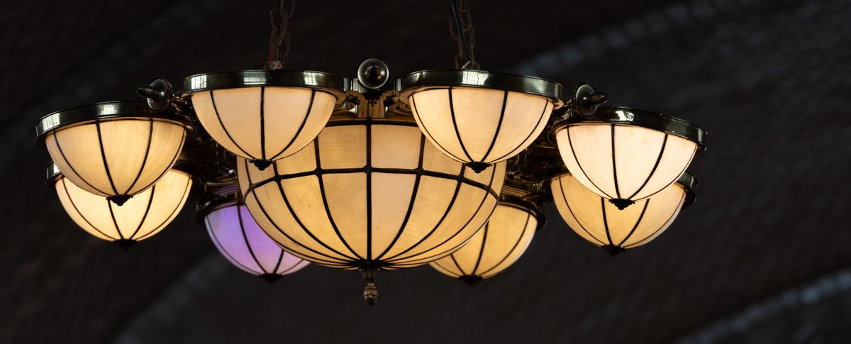 Wondering why one purple lamp