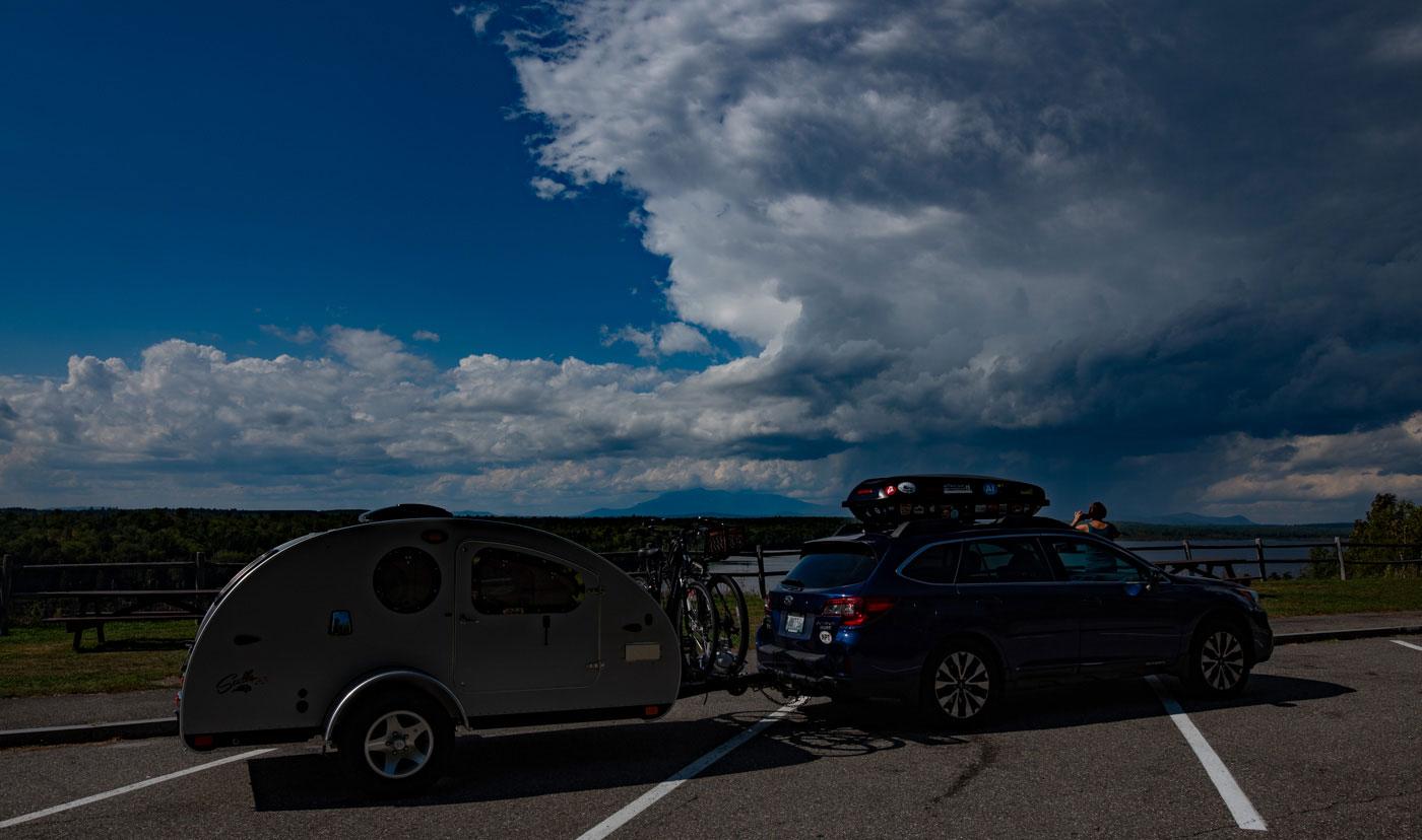 Overlooking Mount Katahdin, Maine