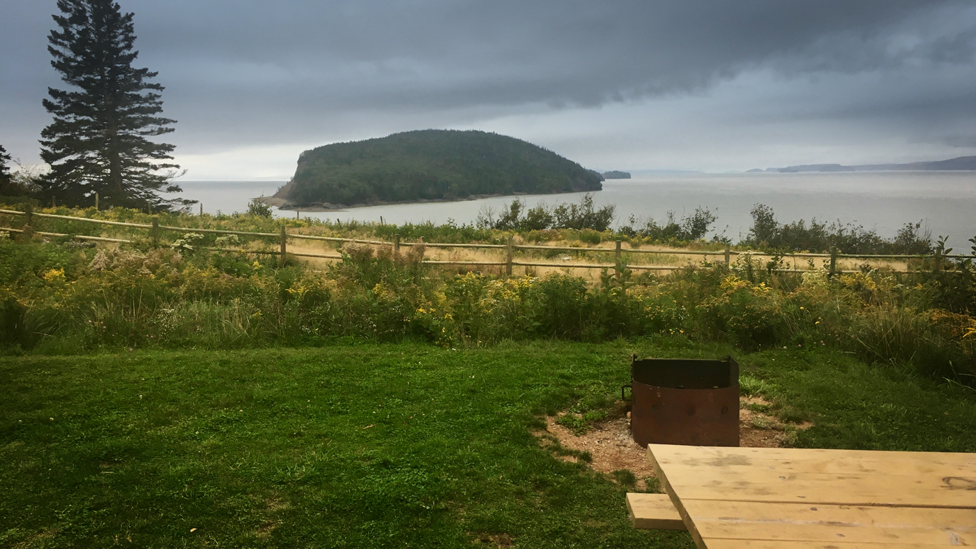 Five Islands Provincial Park, our view from camp