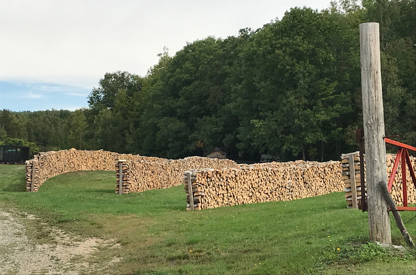 Neatest wood pile I have ever seen