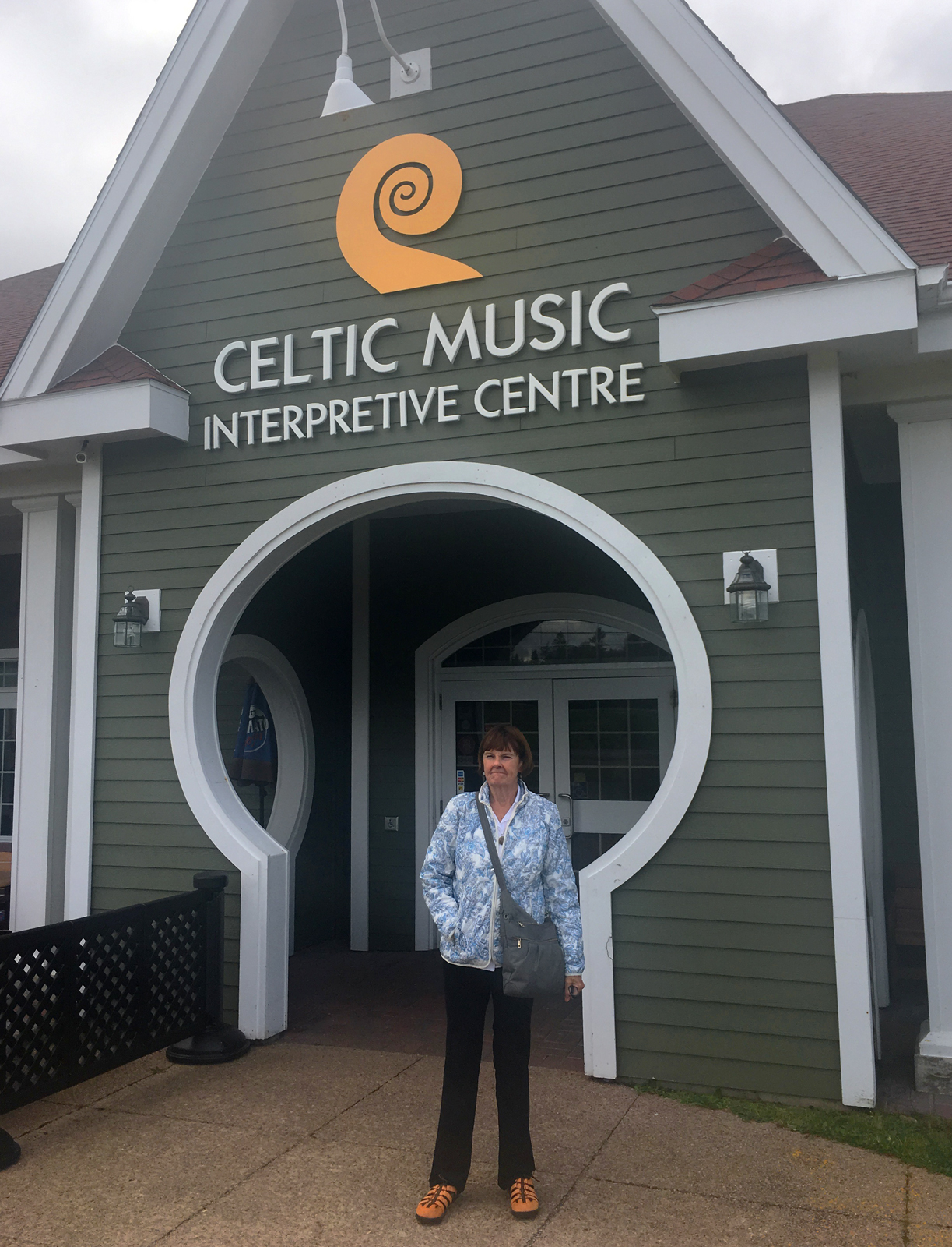 Posing at the Celtic Music Center