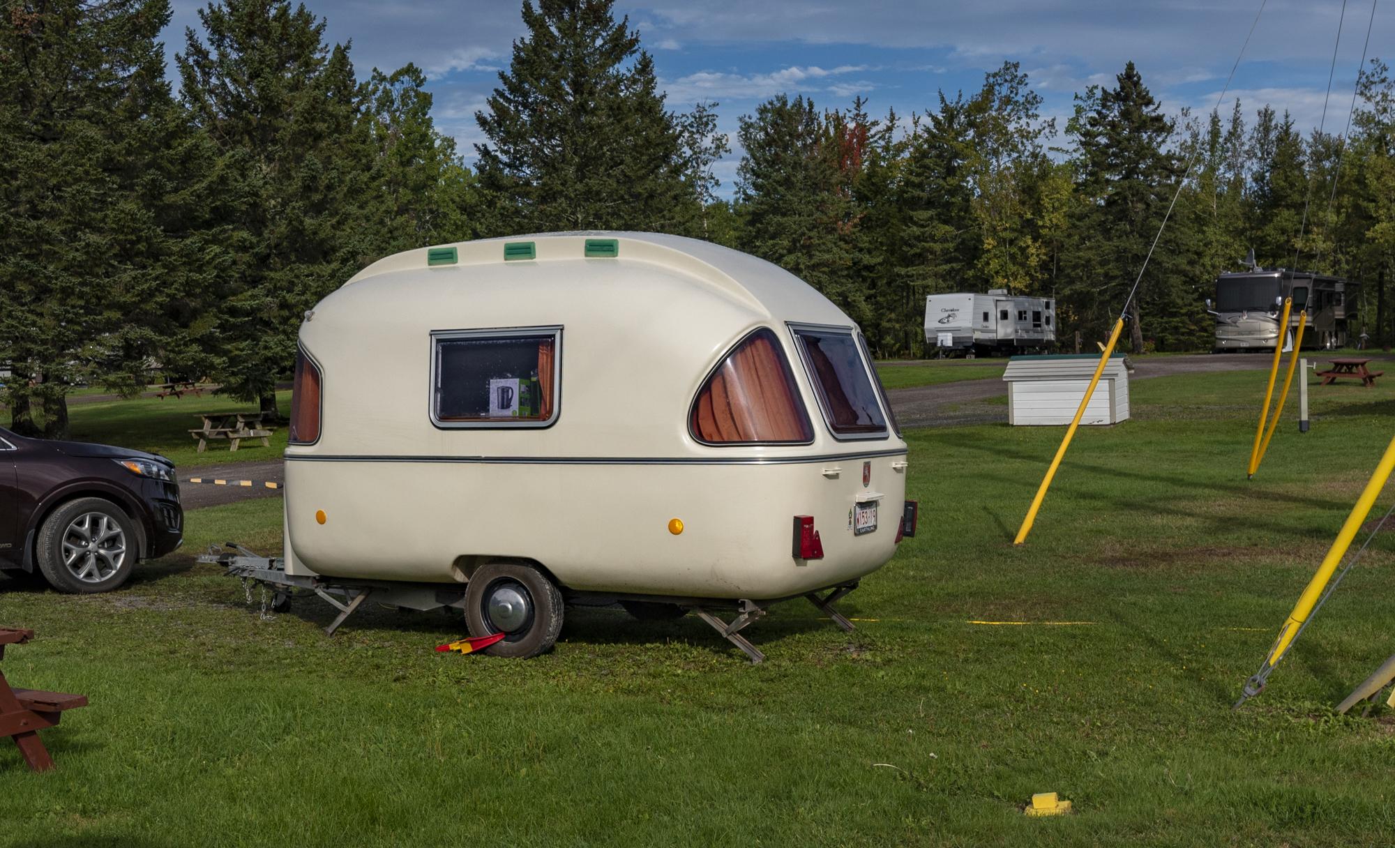 Cute little bubble-like trailer
