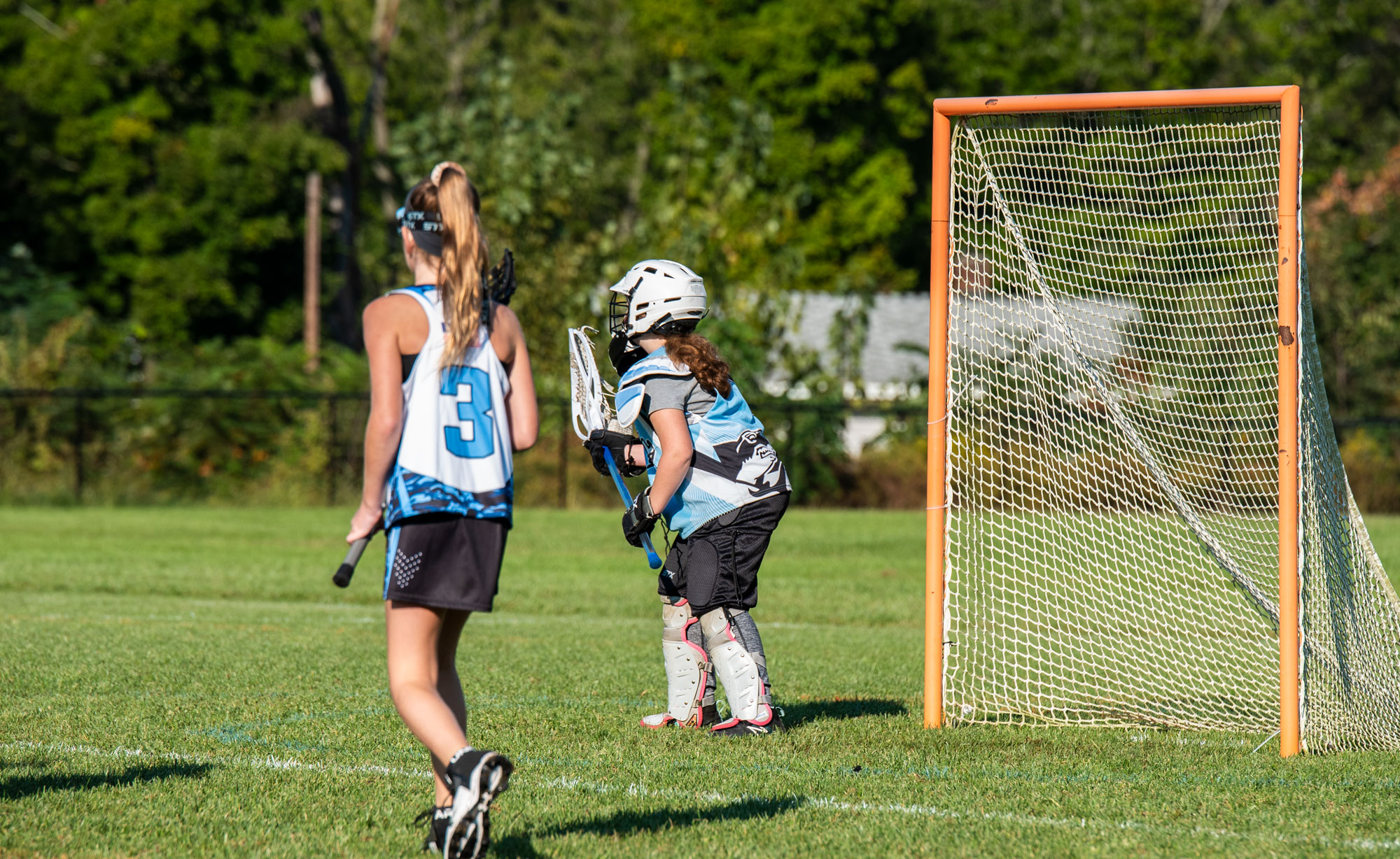 Grace the Goalie, at the ready