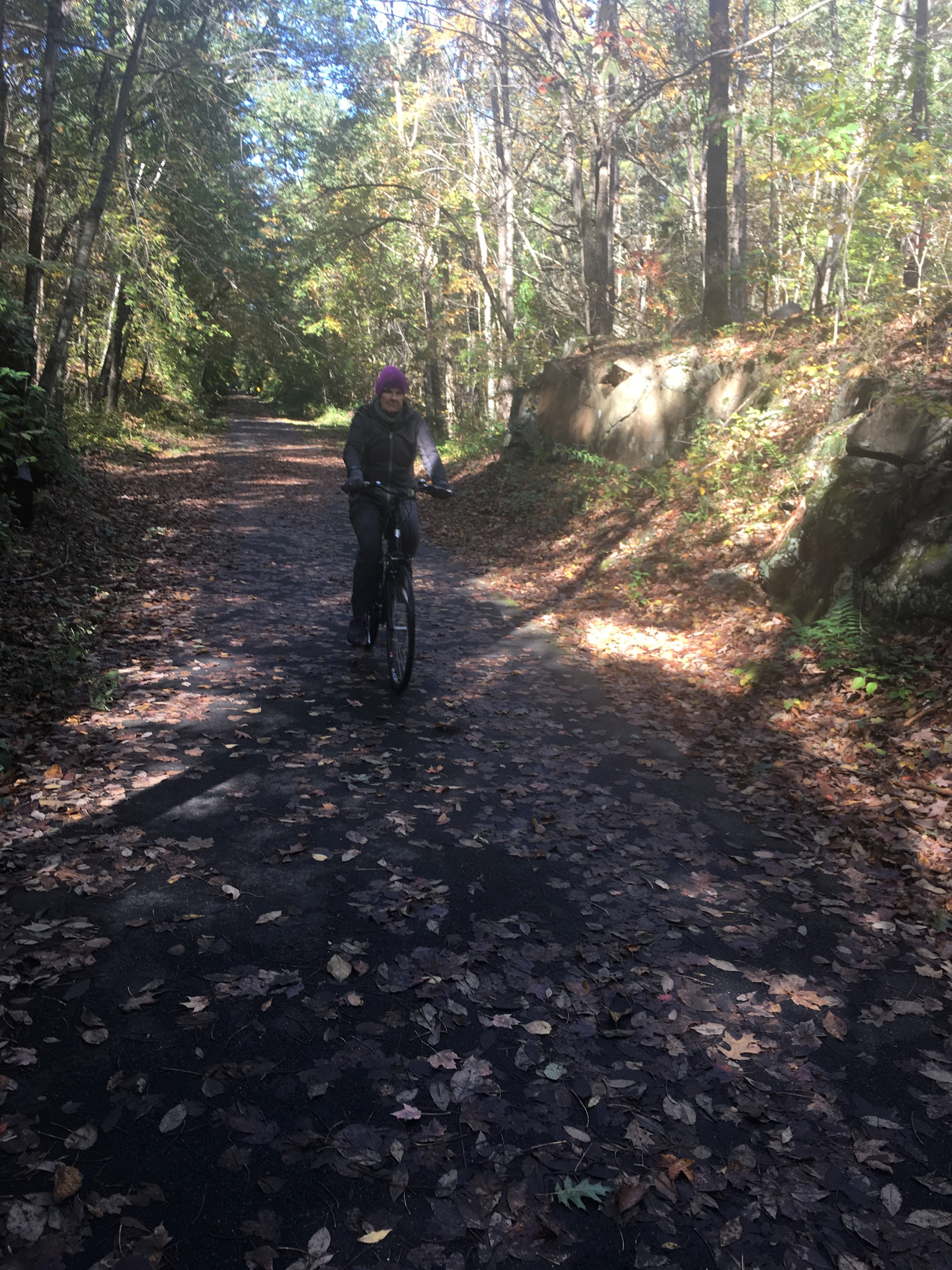 Along the rail trail in New Hampshire