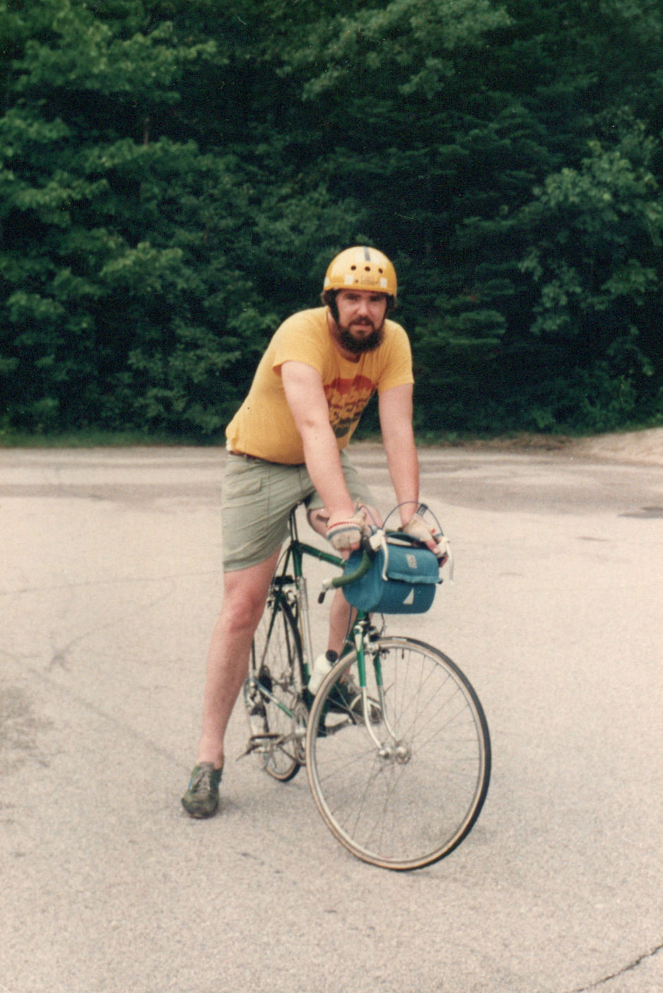 Me around 1976 or so riding the Kancamagus Highway in New Hampshire.