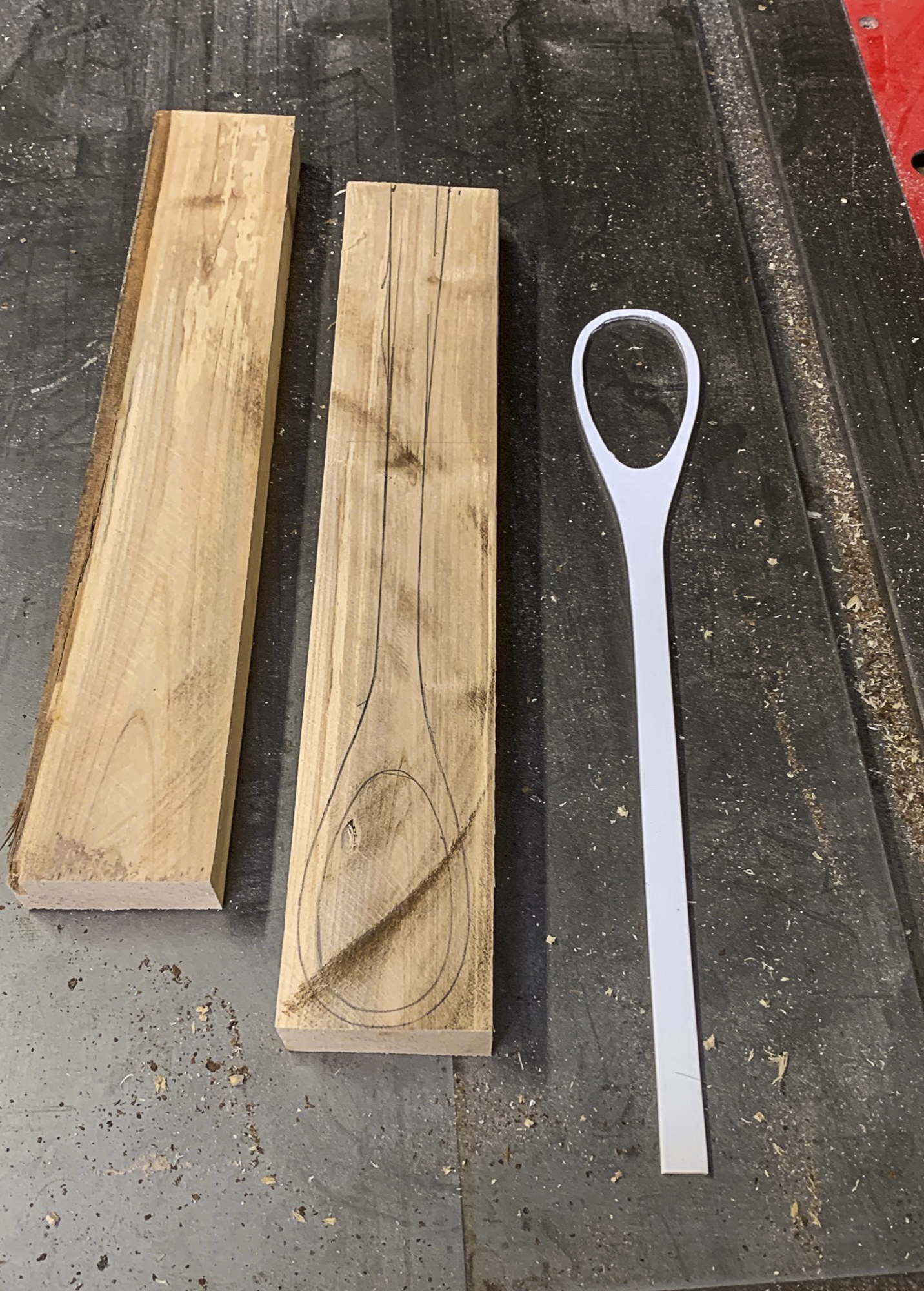 Spoon pattern made from styrene plastic