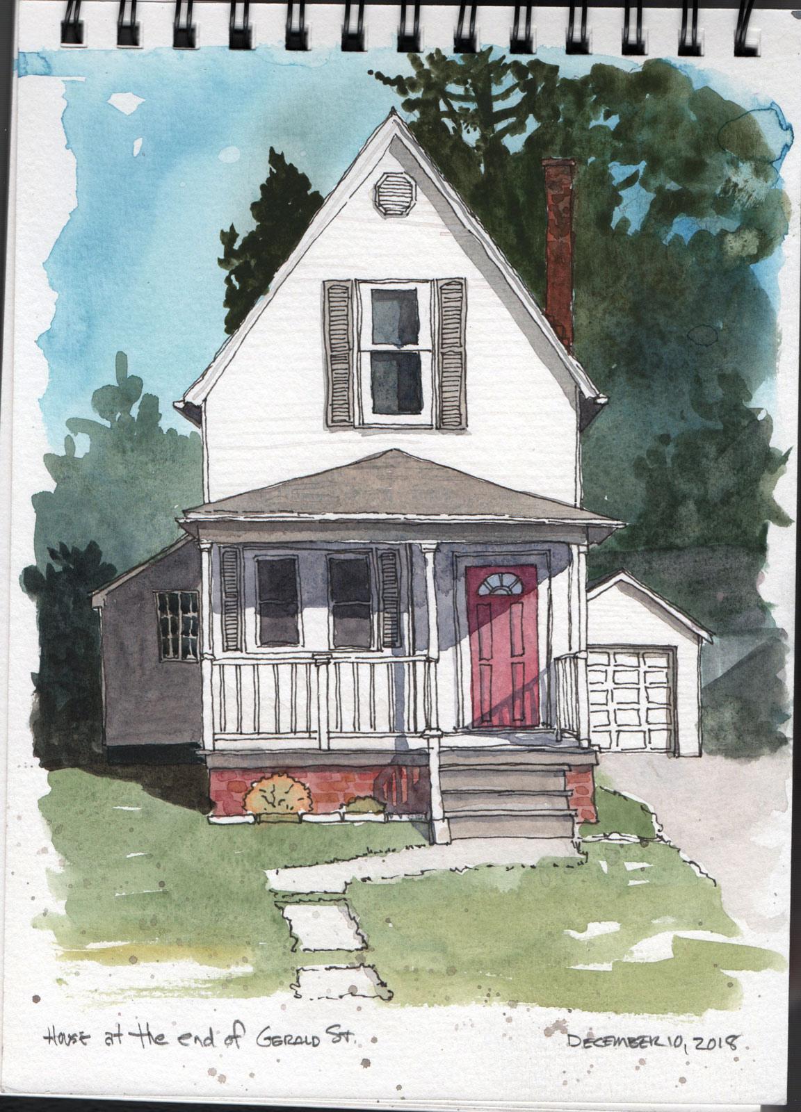 A little house a few blocks away from home.