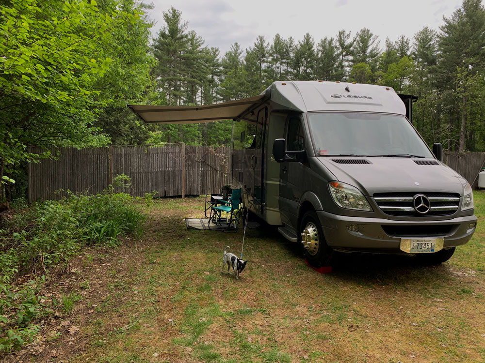 Camping at another Harvest Host, Averill House Vineyard in New Hampshire