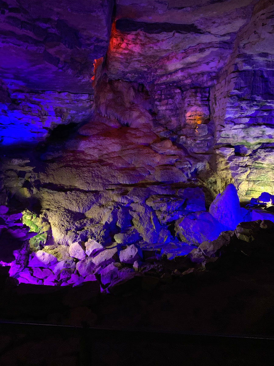 In the Mark Twain Cave