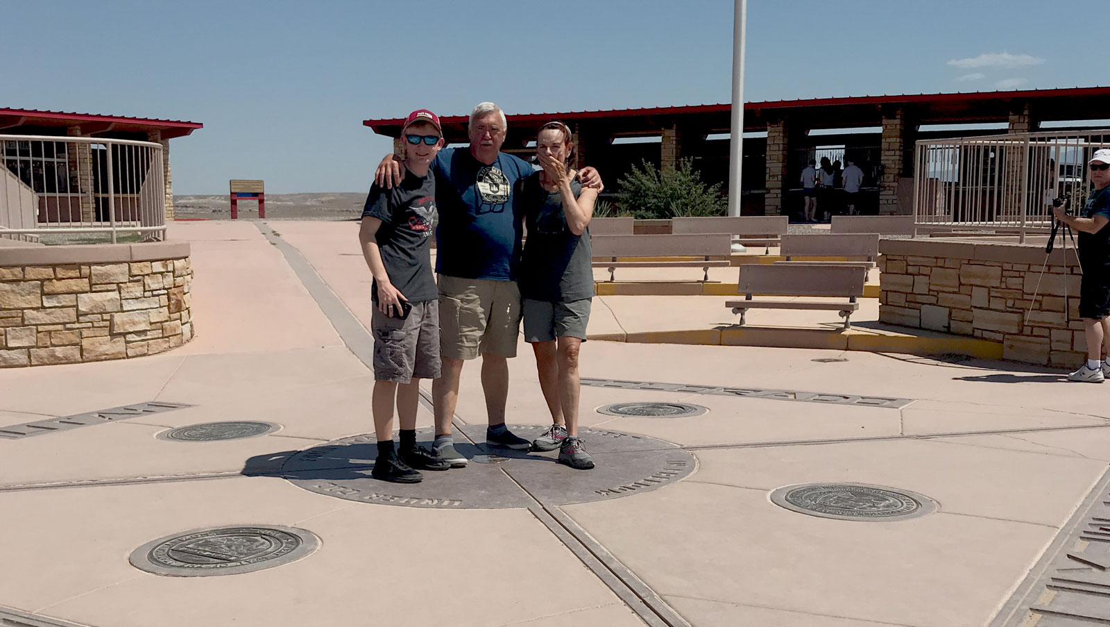 Standing in four stated, Colorado, New Mexico, Arizona and Utah