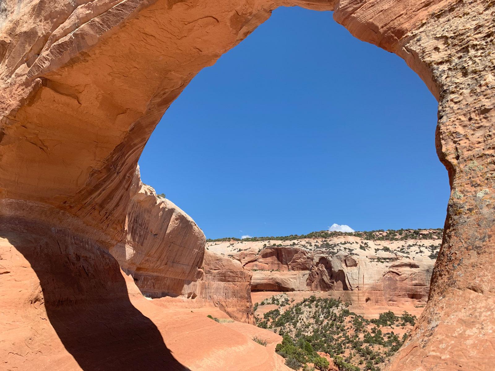 Inside Wilson Arch
