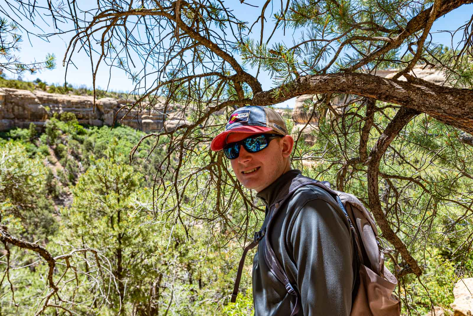 Starting back up the trail out of the canyon