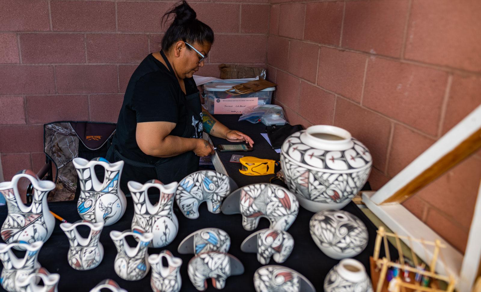 Navajo Potter where Carol bought a nativity scene
