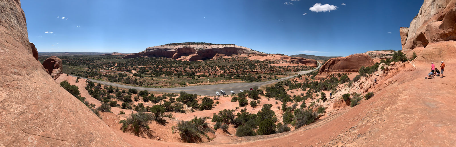 Panorama from Wilson arch