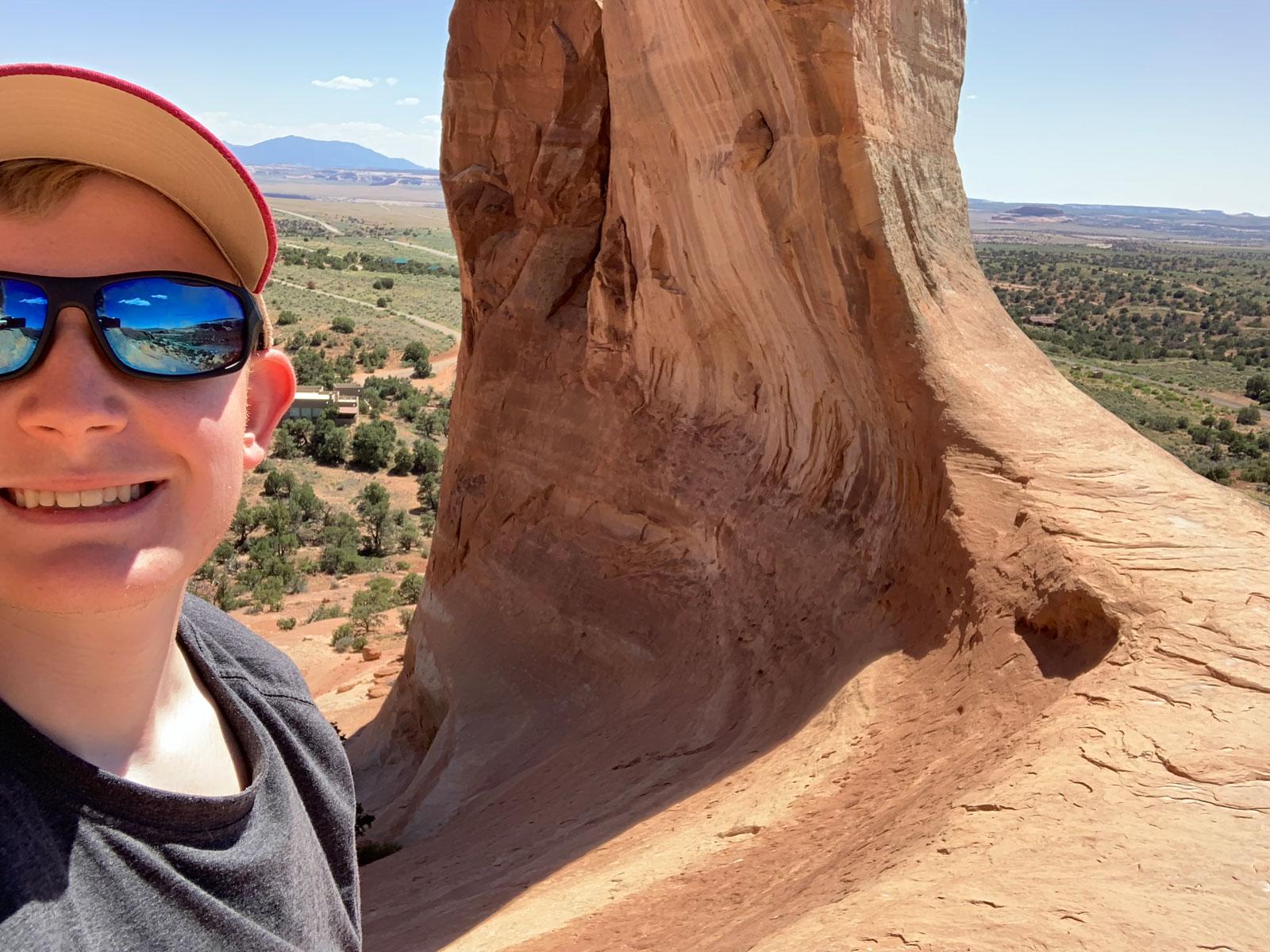 Wilson Arch selfie