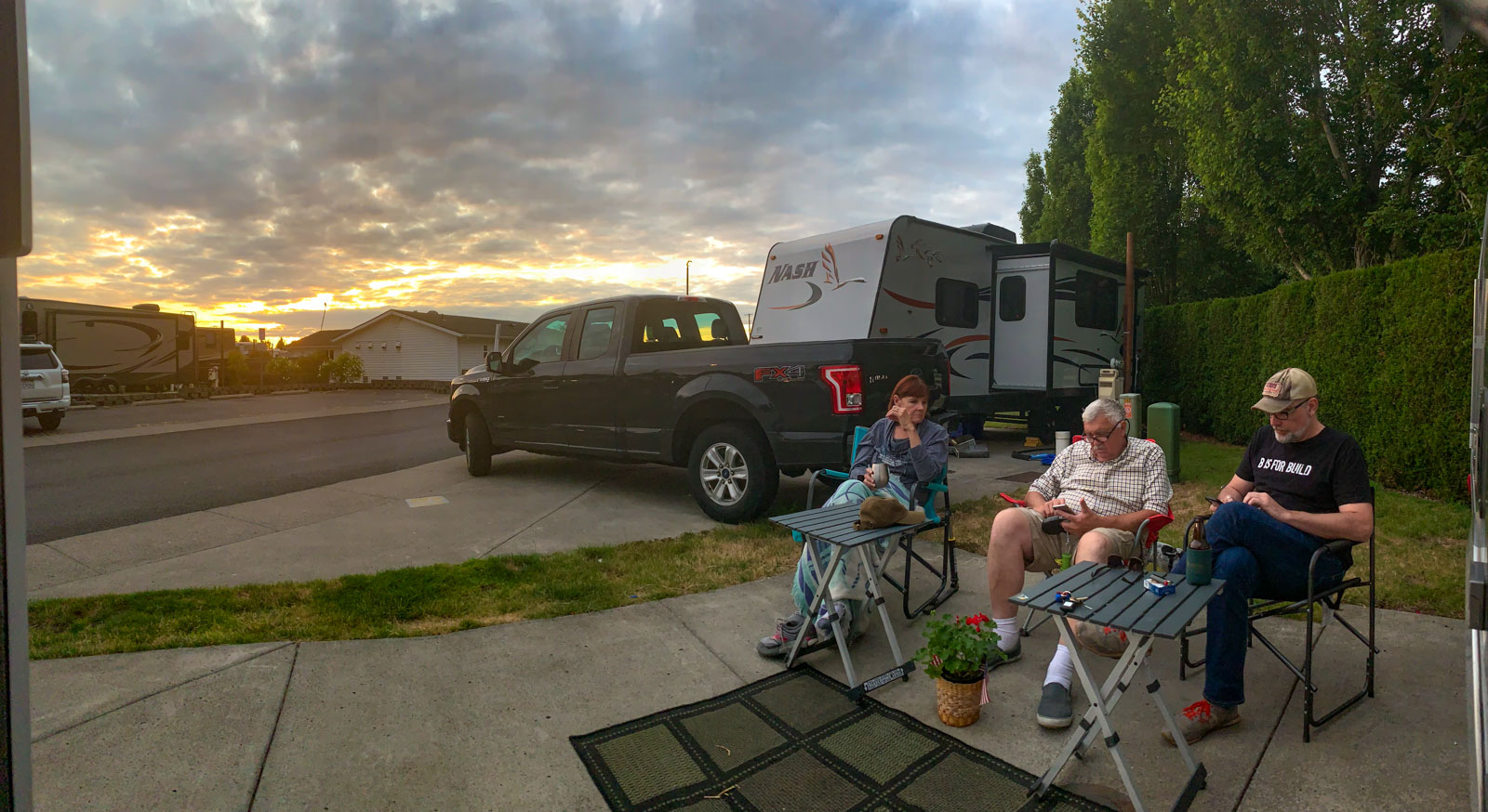 Sunset at the RV park